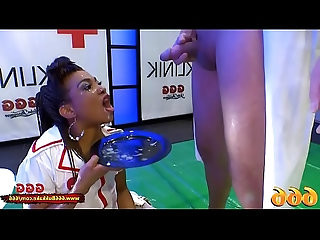 Mimi the Black Nurse is thirsty for Piss and Cum