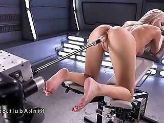 All wet solo blonde fucking machine