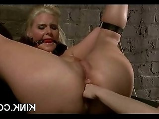 Hot pretty girl fucked and dominated in bondage