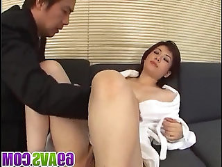 Yukino bends in doggy for a good fuck on the couch