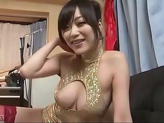Subtitled POV Japanese woman striptease Akari Hoshino