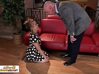 Submissive wife acts like a sex toy and gets face fucked