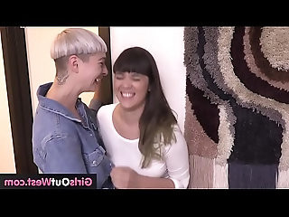Lesbian girl pees into her pants then gets rimmed