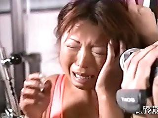 Uncensored Japanese Erotic Fetish Sex Gym Bondage Pt