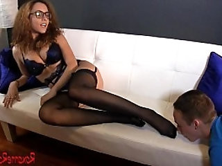 Tristan Sweet Worships Roxanne Raes Nylon Feet