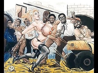 Slaves in bondage bdsm cartoon art