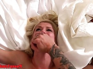 Dominated babe aggressively pounded