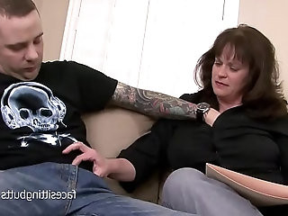 The heavily tattooed young stud fucks mature private tutor