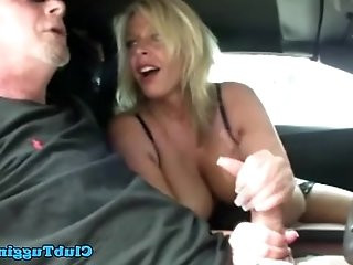 Handjob amateur busty MILF loves to wank