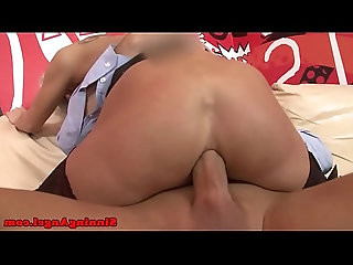 Cathy E drinking cum after anal