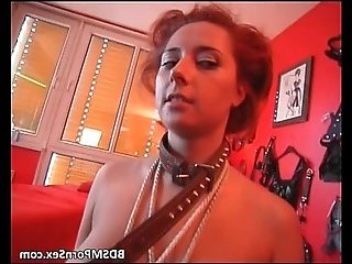 Check hot two sexy brunette slave get
