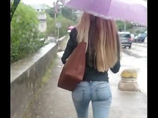 great student ass in jeans voyeur
