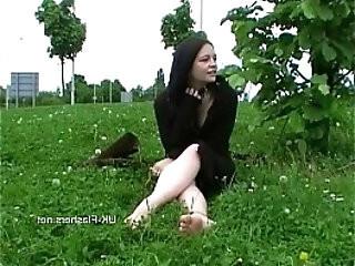 Teen student nude in public amateur flashing in Birmingham