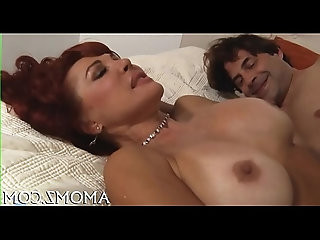 Smoking sexy mature in action
