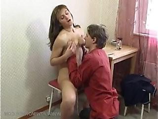 Mom seduces son with feet