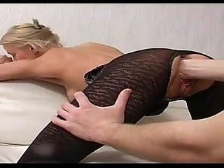 amateur blond fisting