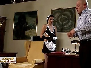 Dirty Babe Dressed Like A Maid Gets her pussy Rammed