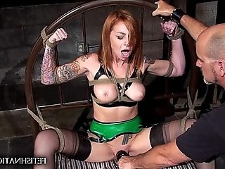 Scarlett Pain Forced to Cum