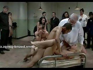 Pornstar meets her real first gangbang