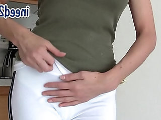 Candle pees her pants skintight jeans