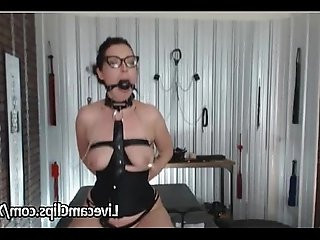 Wild And Kinky Brunette lesbian Babe Amazing BDSM Show!